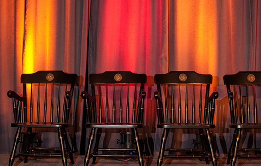 DU Law Stars honoree commemorative chairs