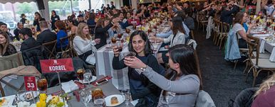 A toast at Alumni Weekend