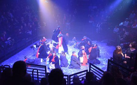 DU Prison Arts Initiative participants perform A Christmas Carol.