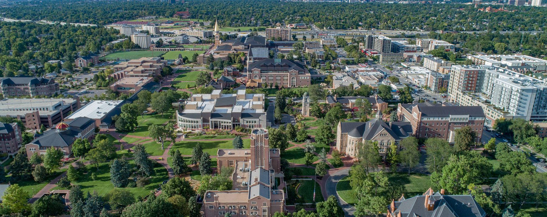 aerial shot of campus