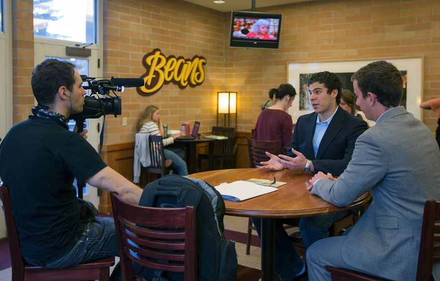students interviewed on DU campus