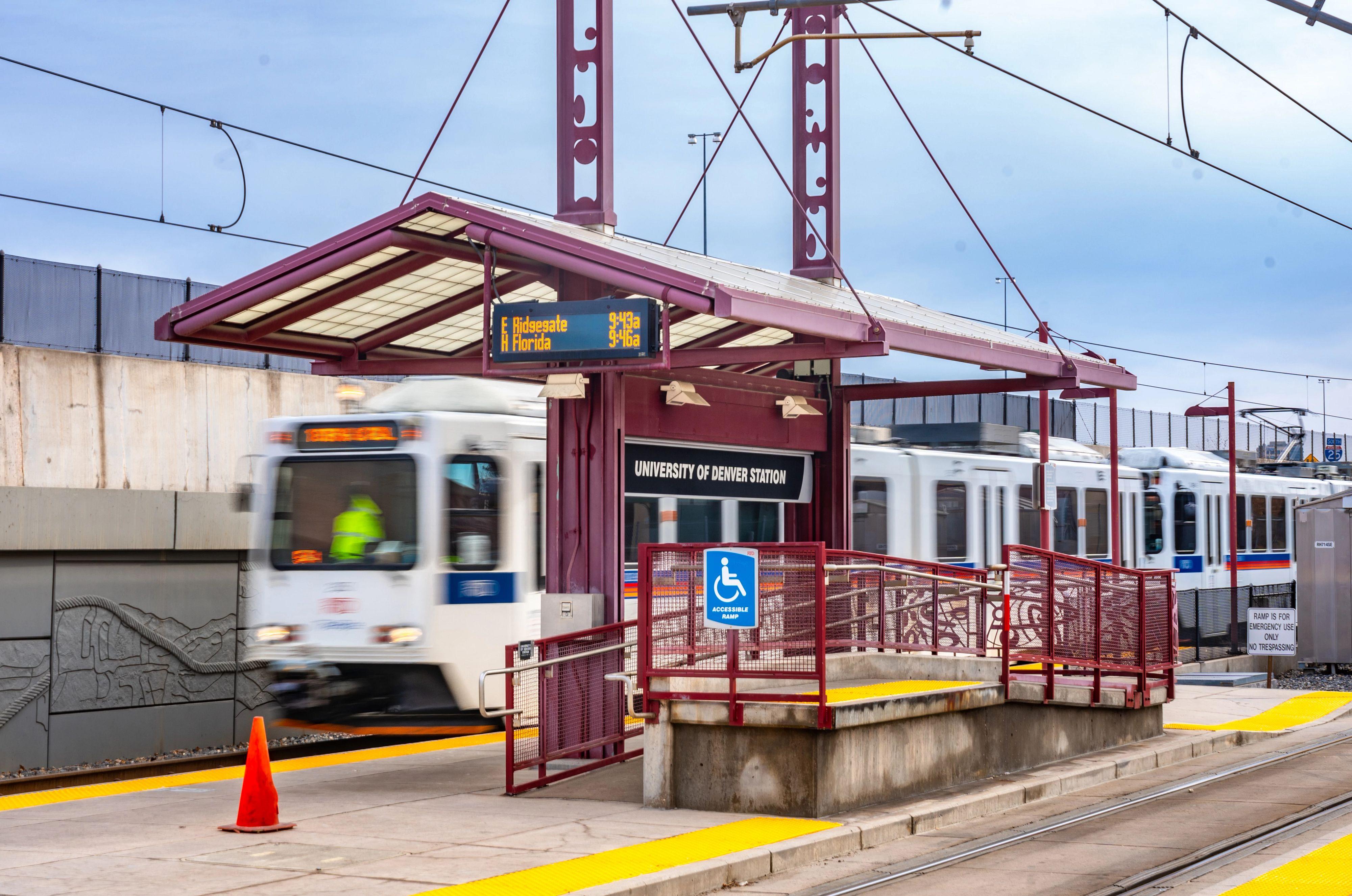 DU's light rail station