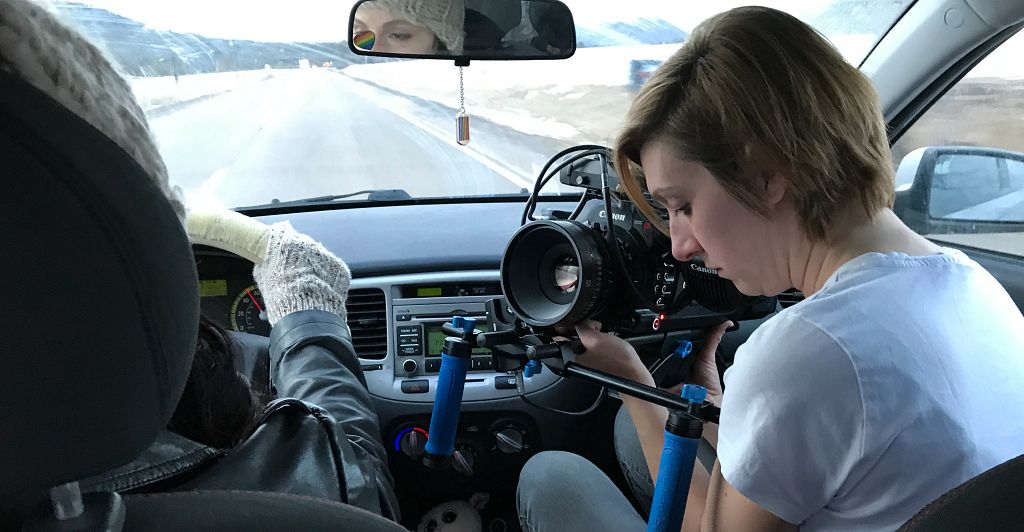 """""""Hunting Season"""" cinematographer, Jessica McGaugh, captures this shot while on location in Larkspur, CO. Production on the rest of the film is slated for summer, 2021."""