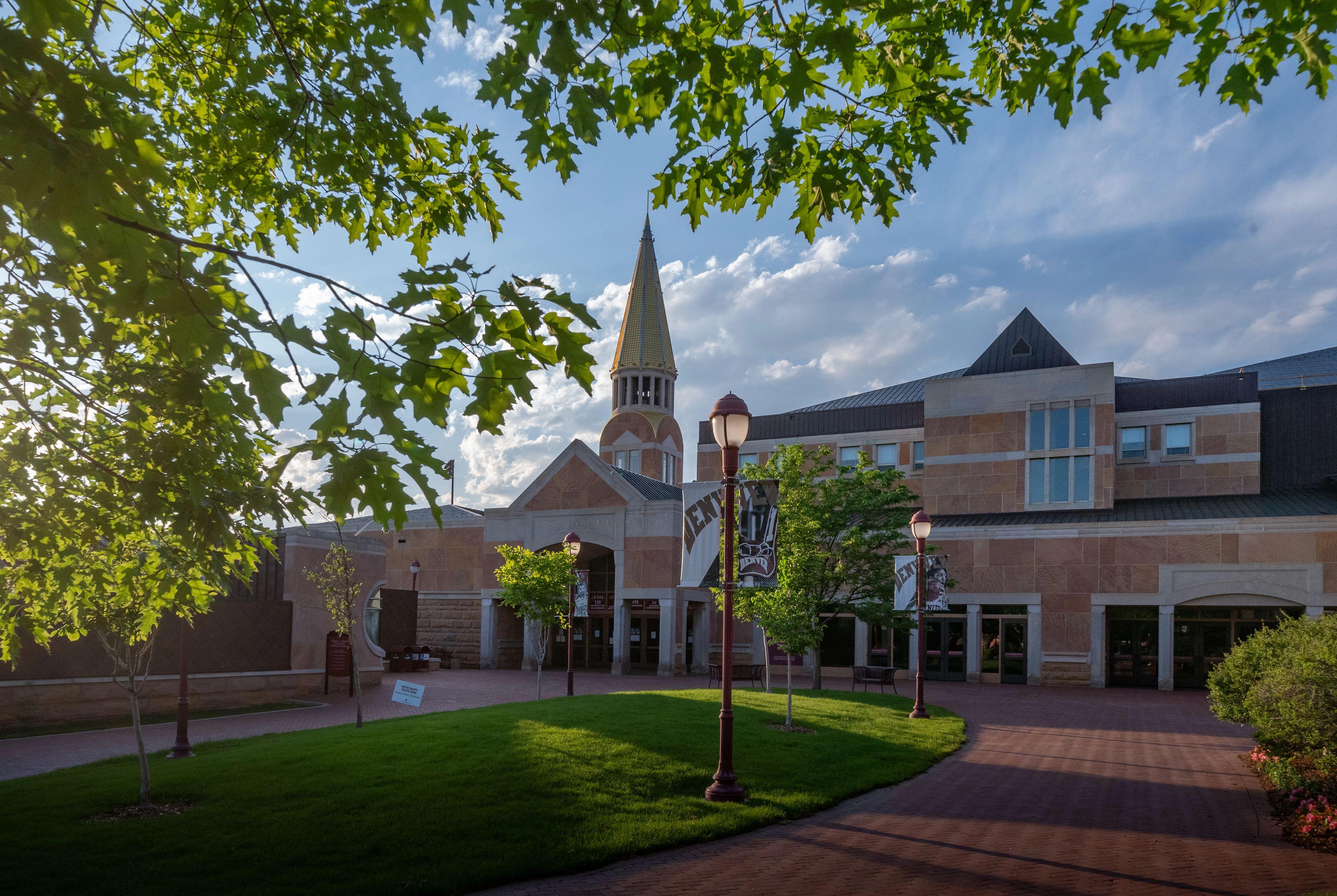 campus building in summer