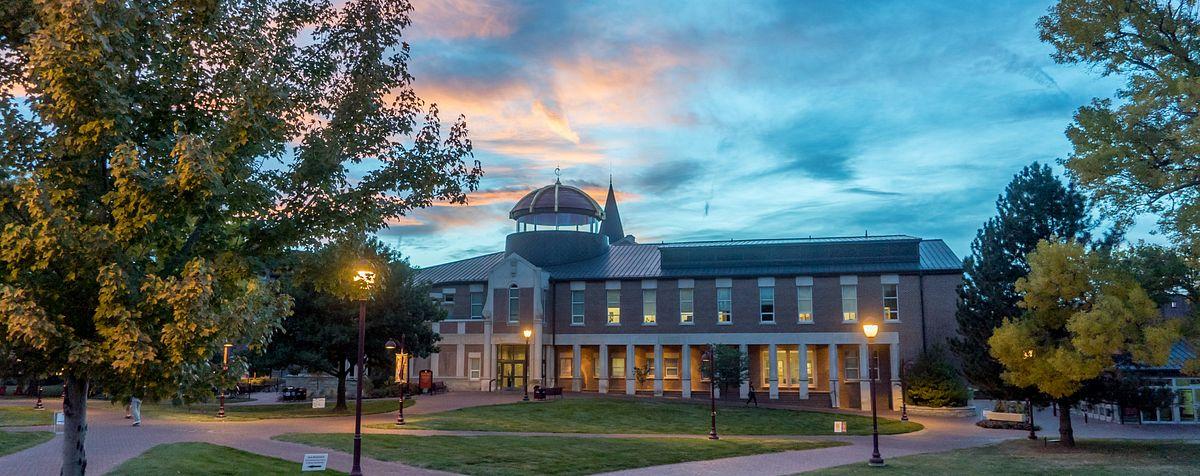 The campus at sundown.