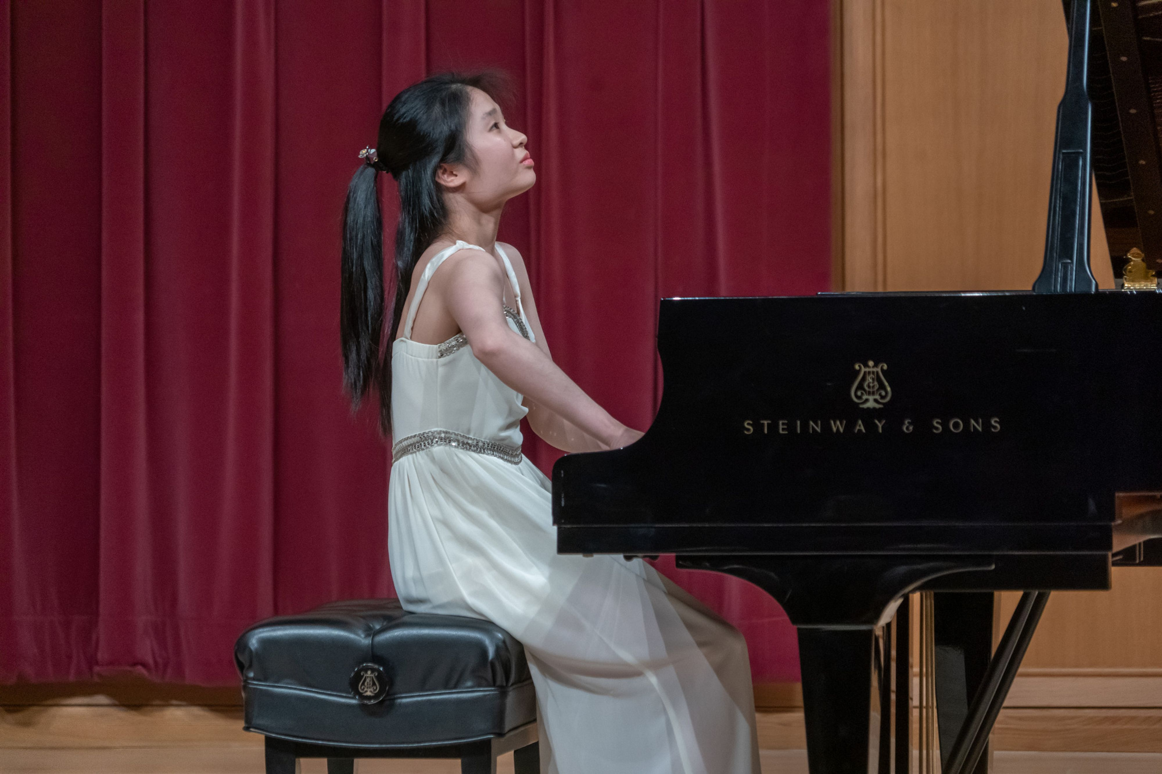 Piano student performs at the Lamont Showcase