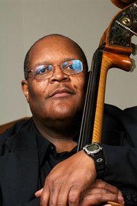 Ken Walker holding a double bass