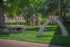 sculpture on DU campus