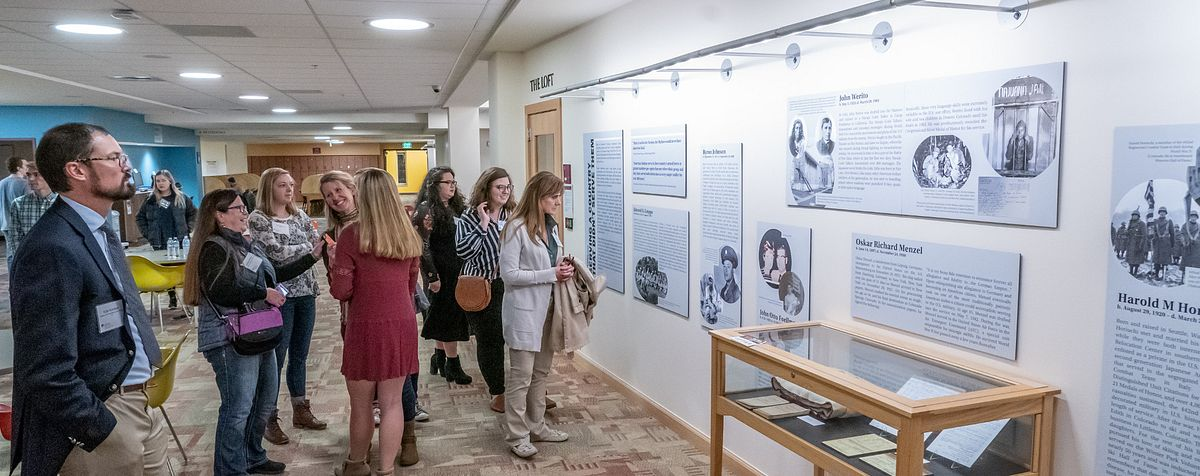 Opening celebration of the Veterans Legacy Project, which features research by many History Undergraduate students.