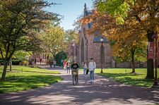 Fall day on DU campus