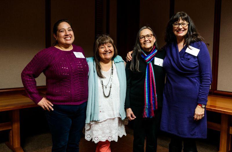 Angela Parker, Melanie Yazzie, Jan Jacobs, and Dakota Hoska