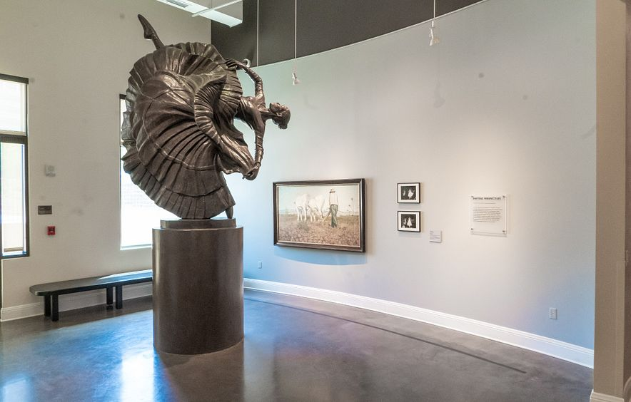 sculpture at DU history exhibit