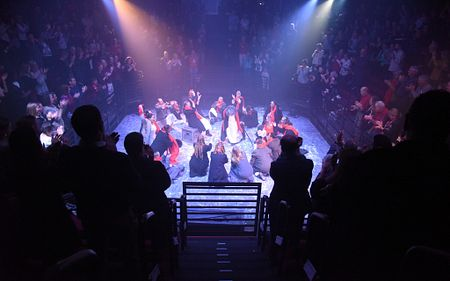 christmas carol prison arts production background image