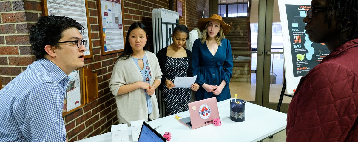 Students showcase projects in Sturm Hall at DU
