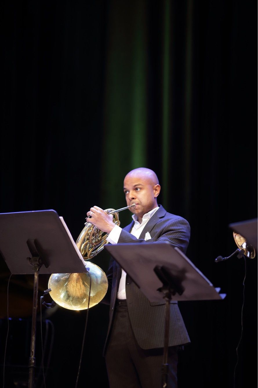 David Byrd-Marrow playing the horn