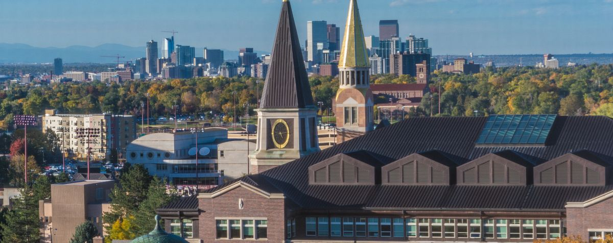 view of denver from campus