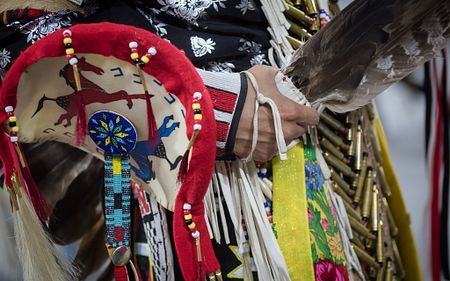 Traditional Native American dress for Pow Wow competition