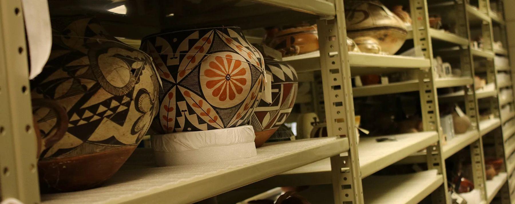 Ceramics on DUMA Collections Shelves