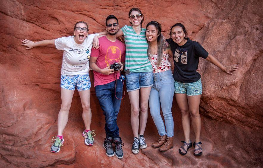 alumni on group trip