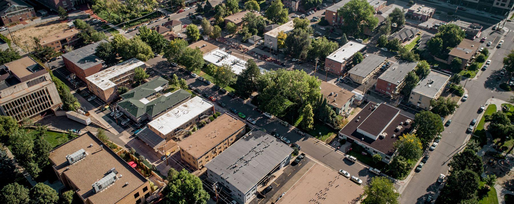 Overhead shot of campus