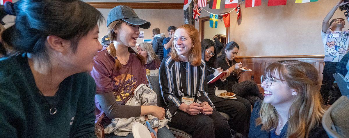 DU students at cultural event