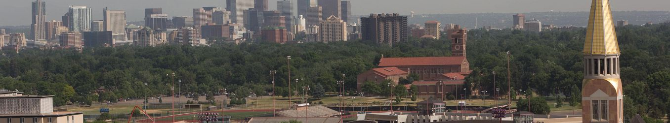 View of Campus and downtown Denver