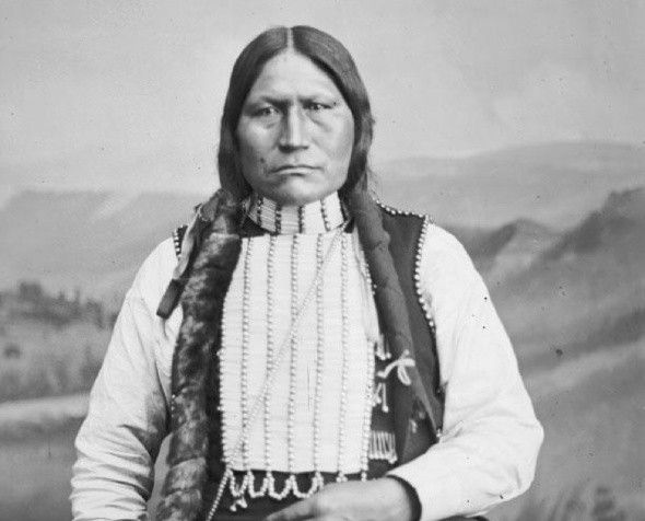 Northern Arapaho Chief Black Coal. Image retrieved from wyomingpublicmedia.org.