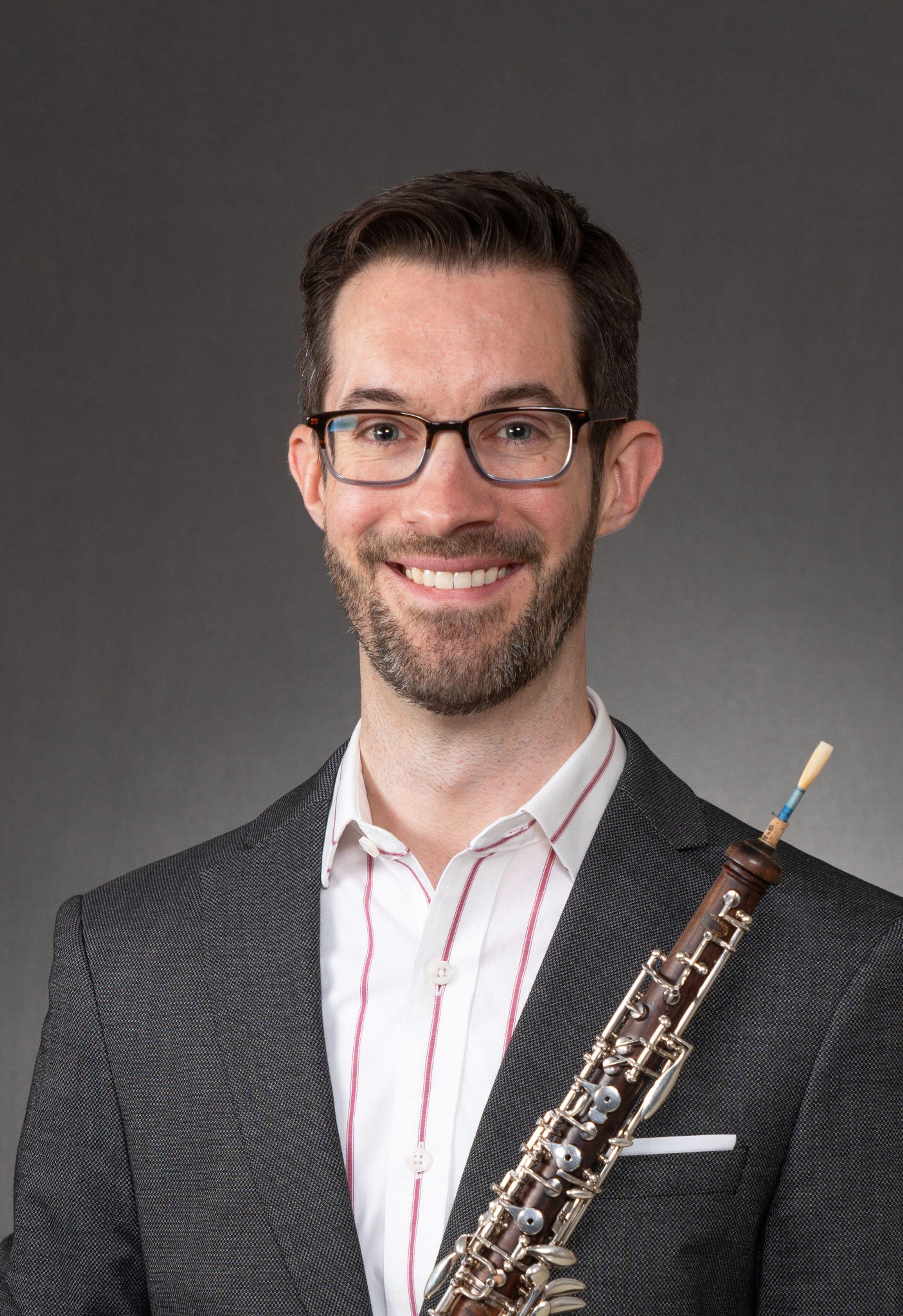 Ian Wisekal with oboe
