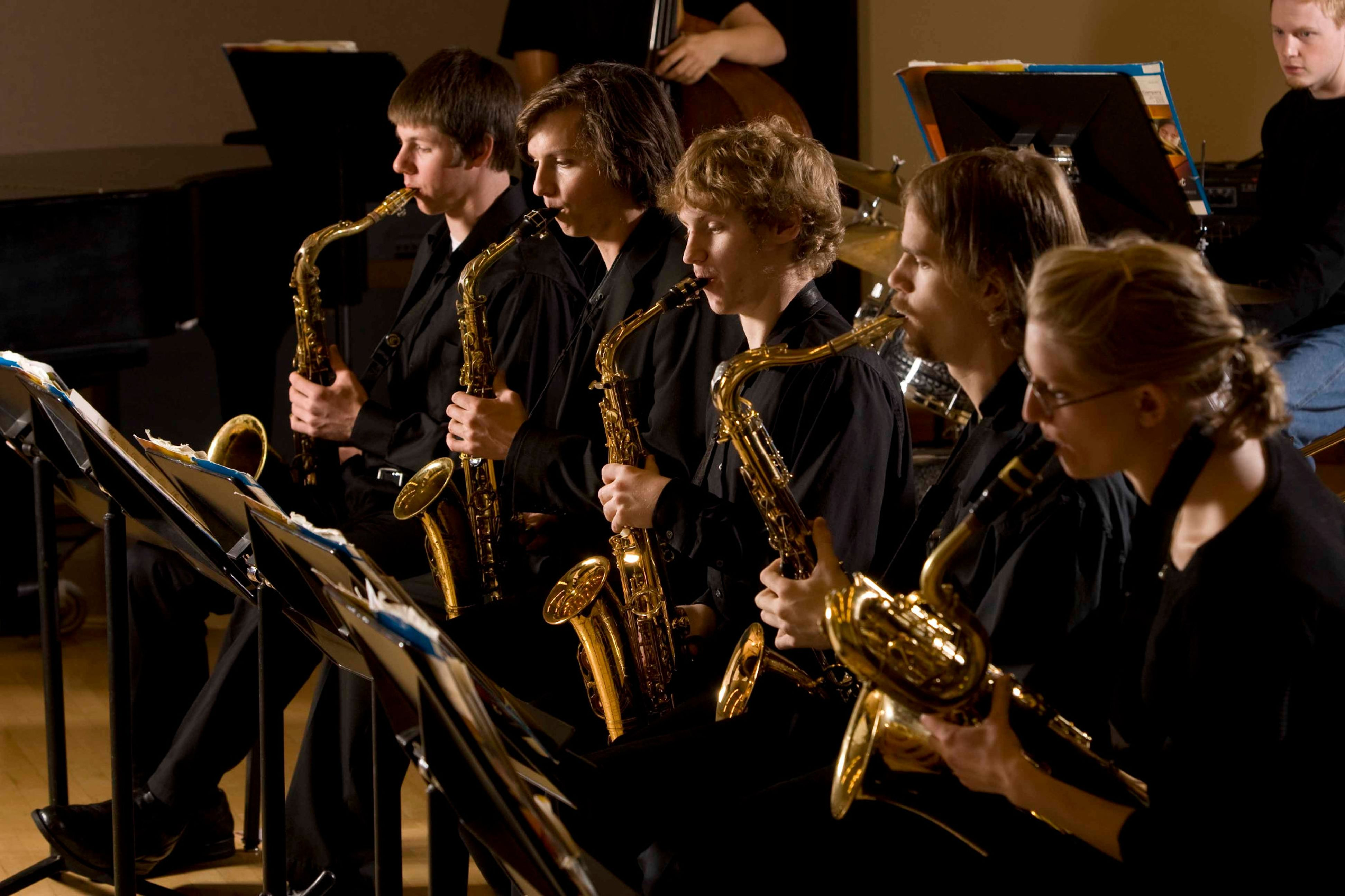 saxophone students performing