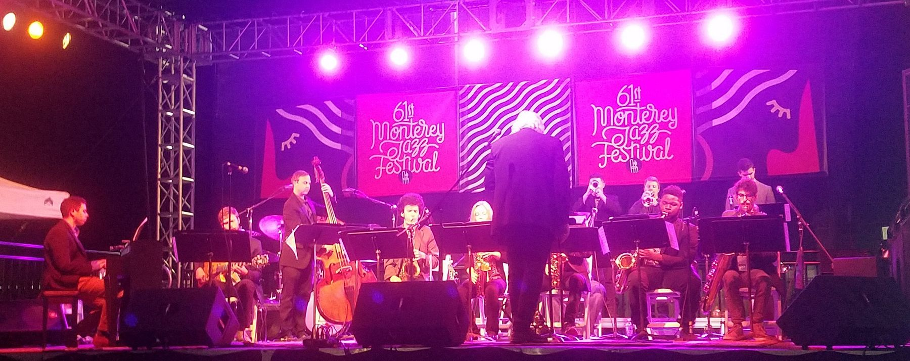 Lamont Jazz Orchestra performs at the  Monterey Jazz Festival.