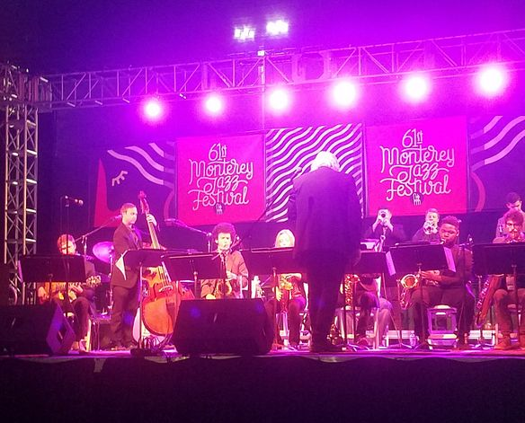 Lamont Jazz Orchestra performs at the 61st Monterey Jazz Festival