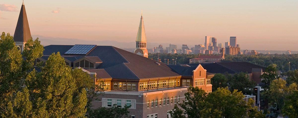 Denver skyline and DU campus