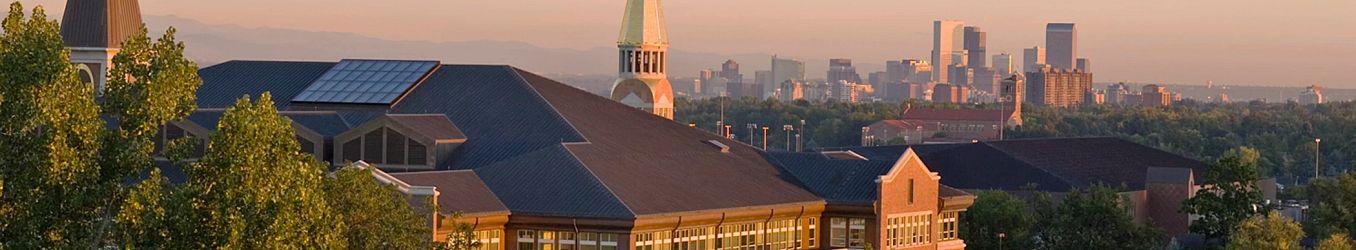 Denver skyline from campus