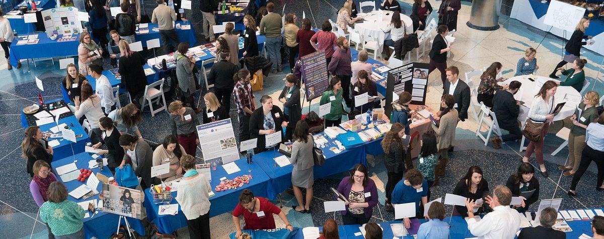 internship fair from above