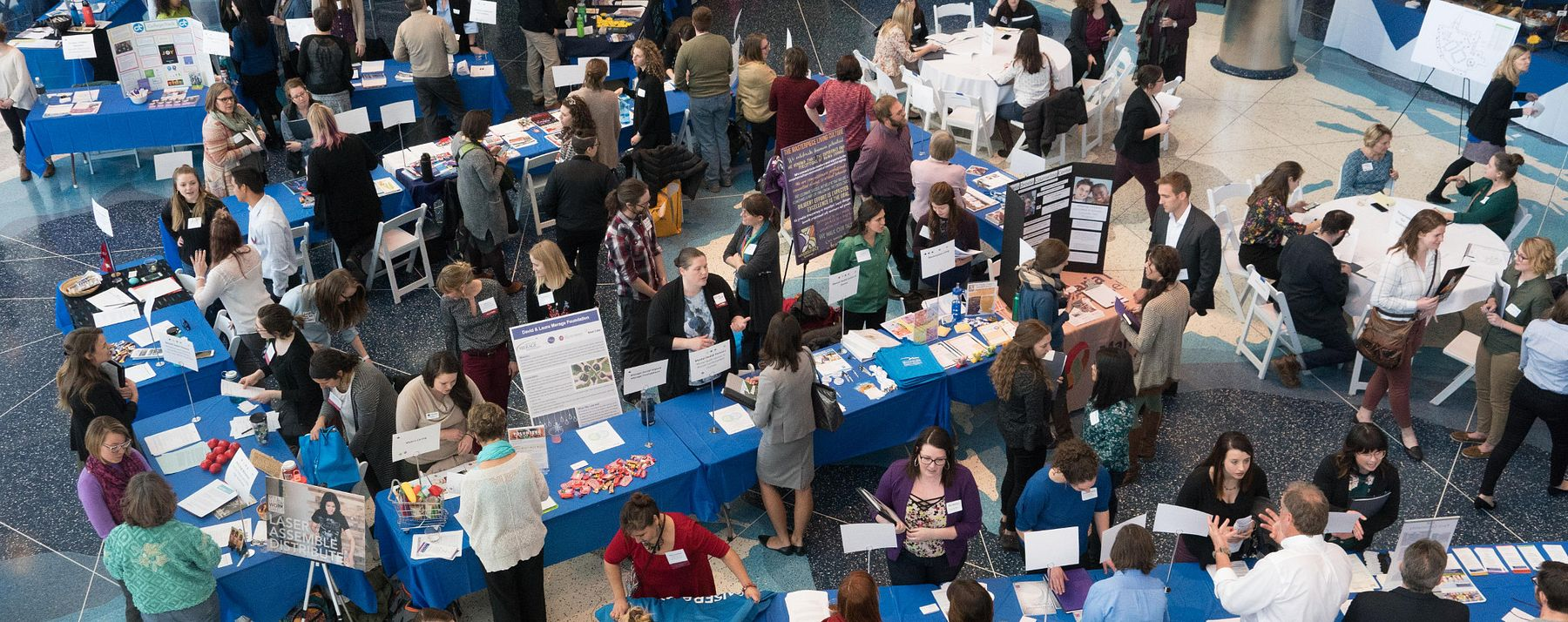 internship fair from above