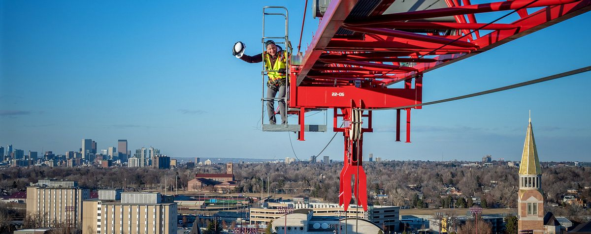 Haefner on construction crane