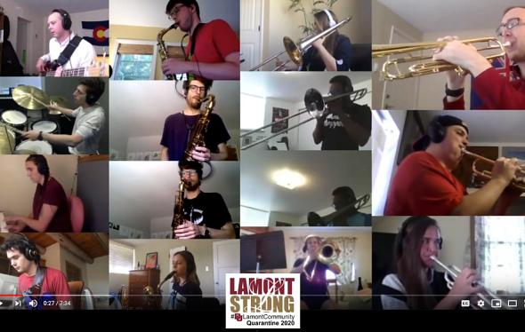 Lamont Jazz Orchestra on Zoom