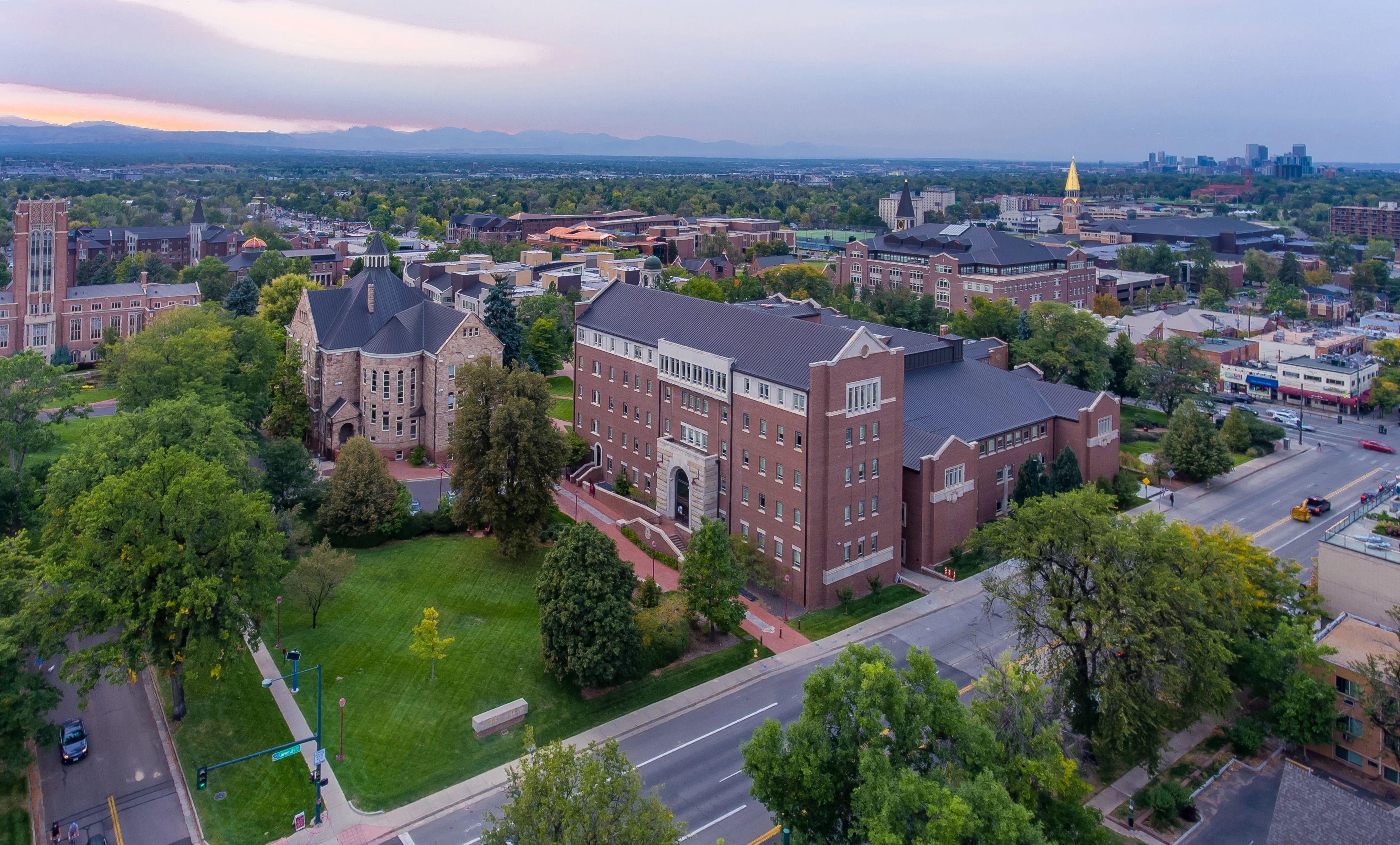 drone captures campus sunrise