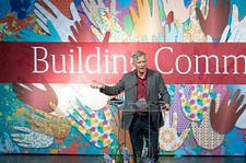 Chancellor Haefner at Community + Values lunch