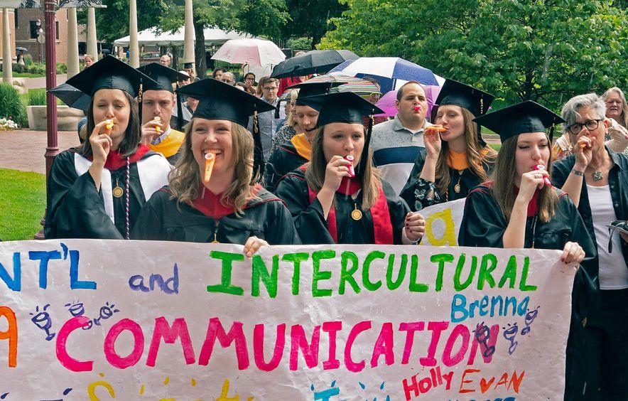 IIC students at graduation.