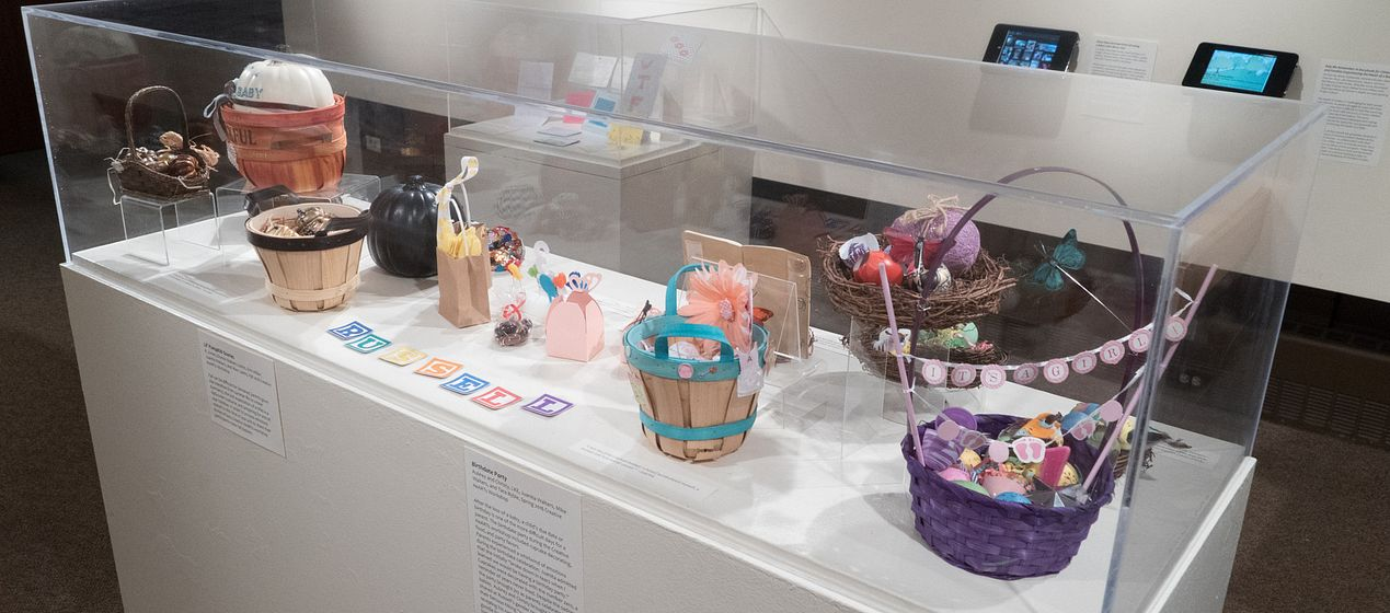 children's items at museum of anthropology exhibit