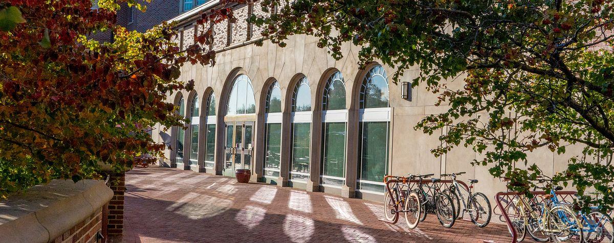 campus building in sunlight