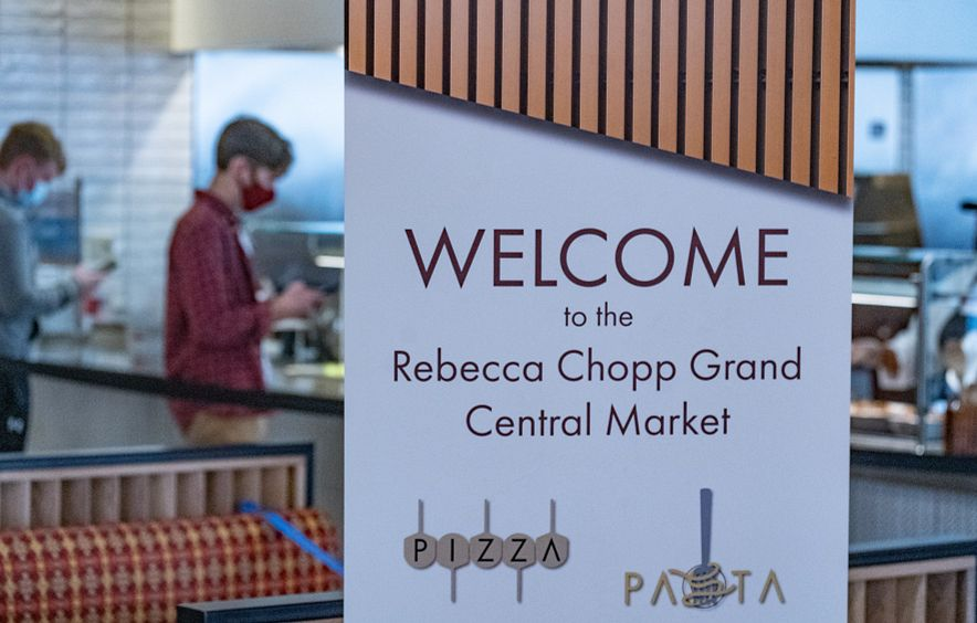 Rebecca Chopp market sign