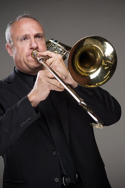 Paul Naslund playing trombone