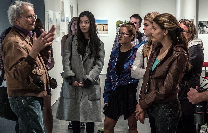 art students gathering