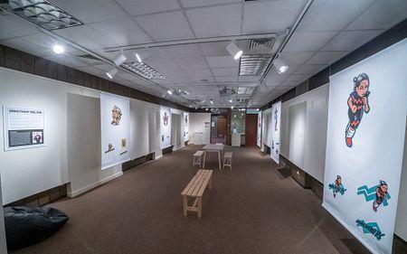 art exhibit background