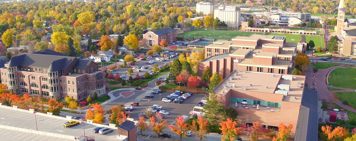 campus from the drone