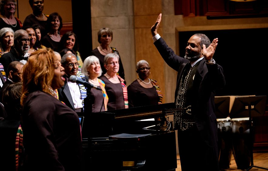 Photo from a 2019 Spirituals Project choir performance