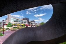 Anderson ACademic Commons viewed through sculpture