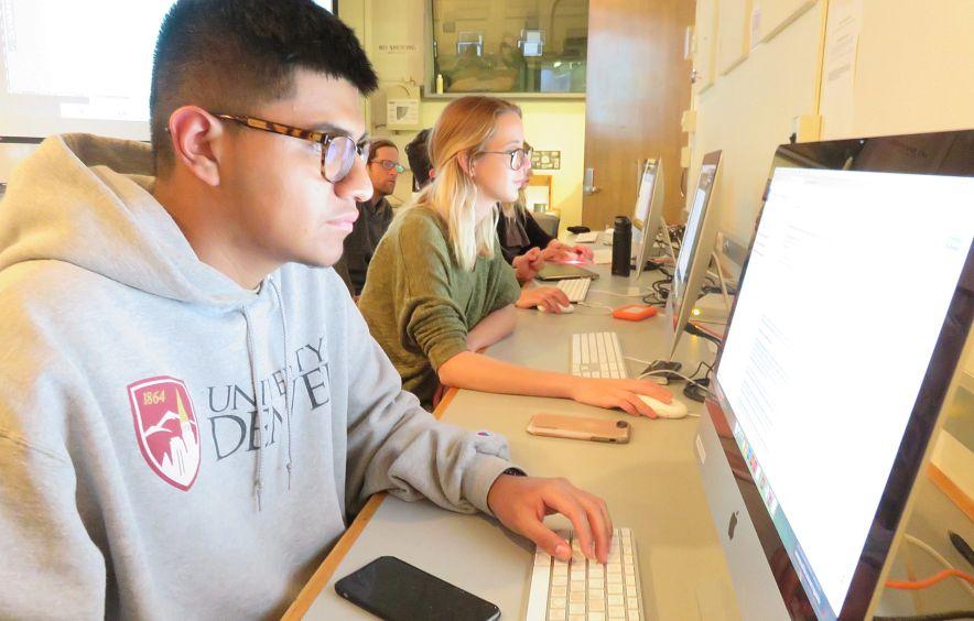 undergraduate du media studies student